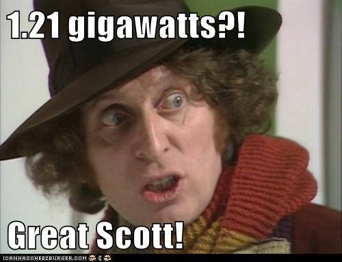1.21 Gigawatts,DeLorean,Doc Brown,doctor who,great scott,the doctor,tom baker