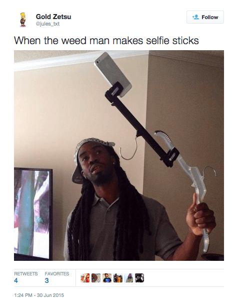 stick selfie stick DIWHY cane DIY selfie hanger - 582661