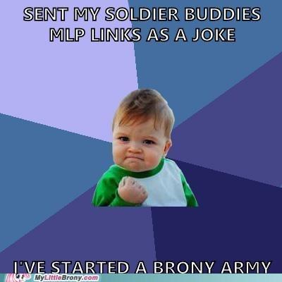 army brony meme soldiers success kid - 5827355904
