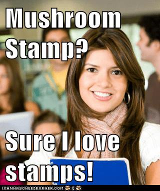 Mushroom Stamp Sure I Love Stamps