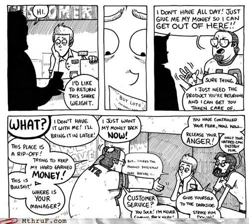 comics customer service punching the clock - 5827864320