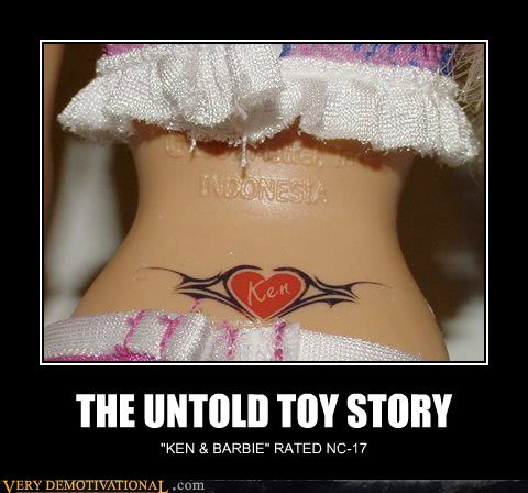 Barbie,hilarious,ken,toys,tramp stamp