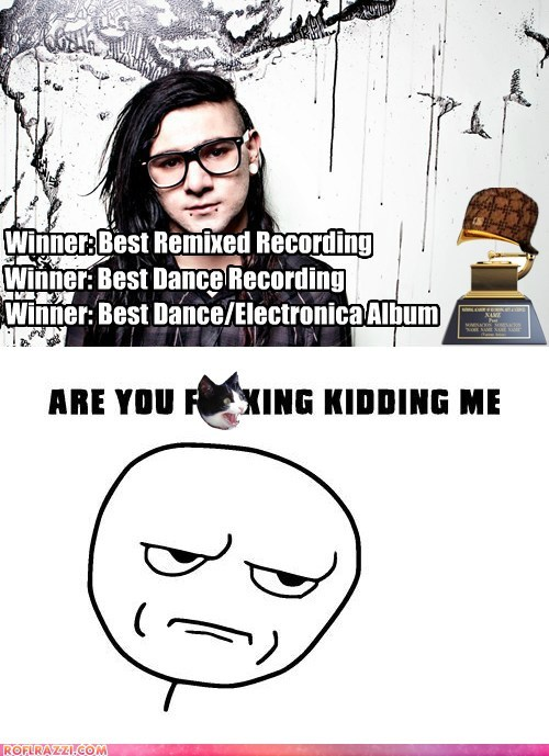 funny Grammys Hall of Fame meme Music skrillex - 5829133056