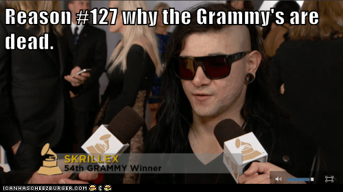 funny Grammys Hall of Fame skrillex - 5829148160