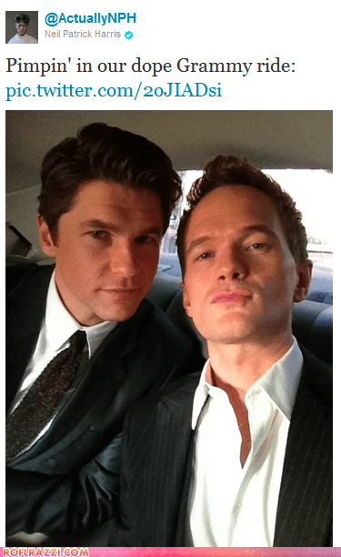 david burtka grammy awards Grammys Hall of Fame Neil Patrick Harris tweets twitter - 5829284096