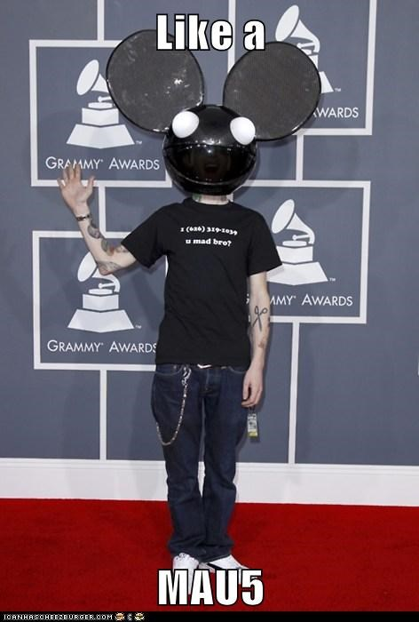 Deadmau5,grammy awards,Grammys,Hall of Fame,Like a Boss,Memes,wat,wtf