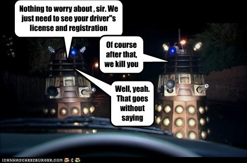 car cops daleks doctor who driving Exterminate - 5829446400