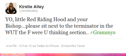 fashion Grammys Hall of Fame kirstie alley nicki minaj tweets twitter wtf - 5829524224