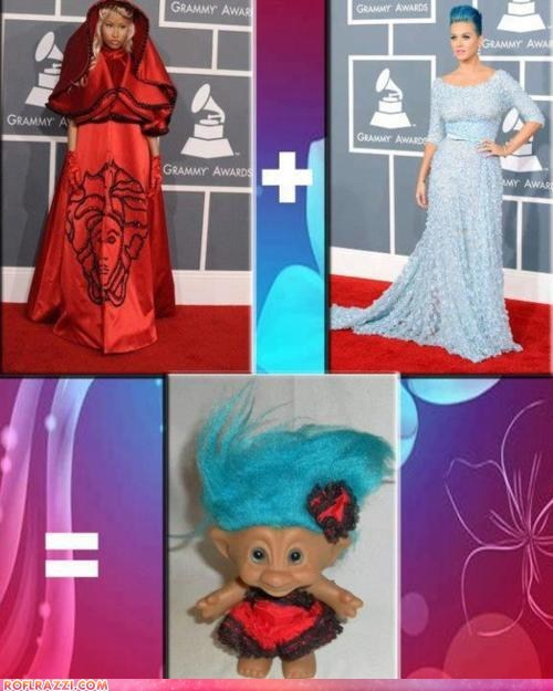 Grammys,katy perry,look alikes,nicki minaj,Troll Doll,trolls