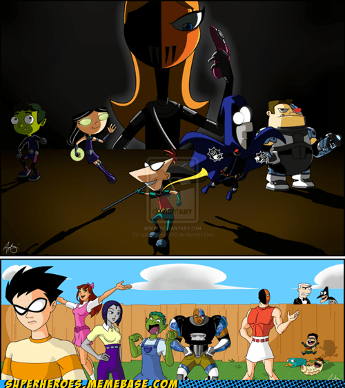 Awesome Art ferb phineas robin teen titans wtf - 5829591808