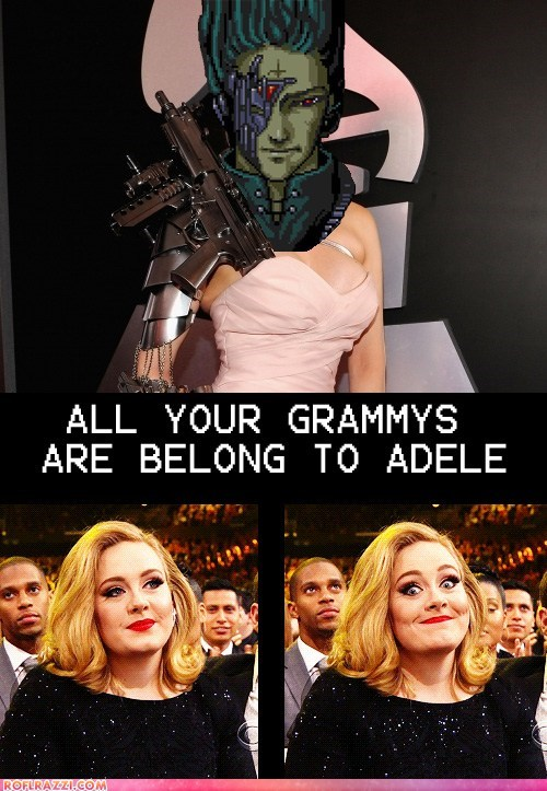 adele all your base are belong to us Grammys Hall of Fame Memes photoshopped winner