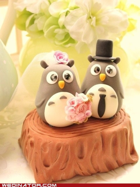 cake toppers,cute,funny wedding photos,totoro
