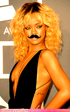 fancy Grammys mustached photoshopped quite rihanna - 5829972480
