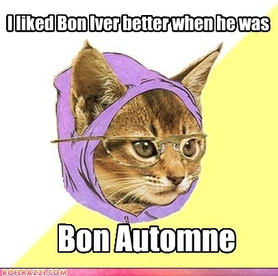 best new artist,Bon Iver,grammy awards,Grammys,Hipster Kitty,Memes