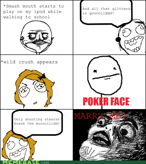 poker face Rage Comics raisin face relationships smash mouth - 5830119424