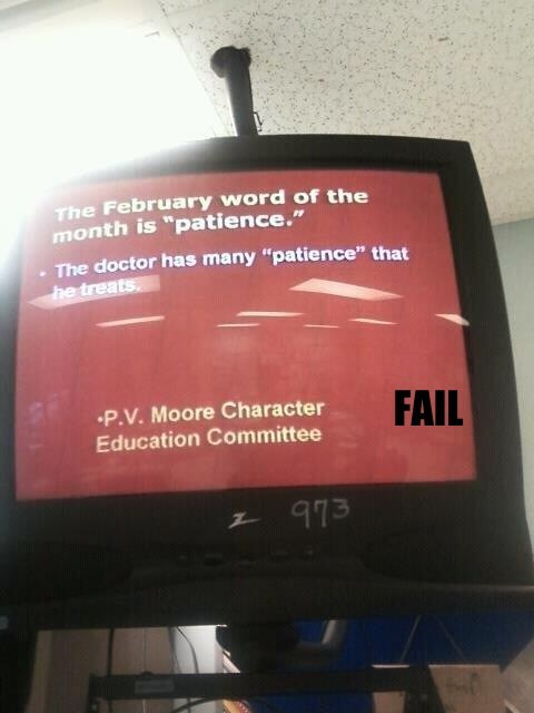 fail nation,g rated,hospital,Professional At Work,typo,wtf
