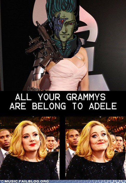adele all your base are belong grammy Grammys grammys 2012 - 5830171136