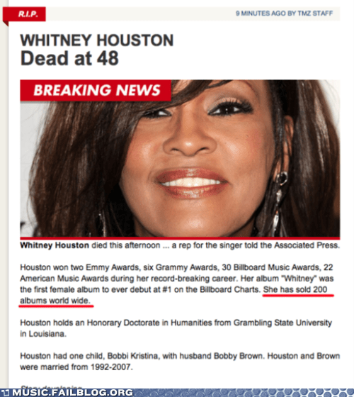 news Obit obituary typo whitney houston - 5830433536