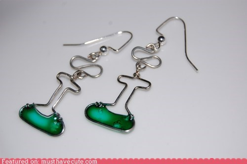 accessories,best of the week,Chemistry,earrings,flasks,Jewelry,wire