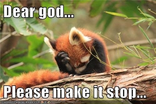 Dear God,facepalm,make it stop,red pandas,stop