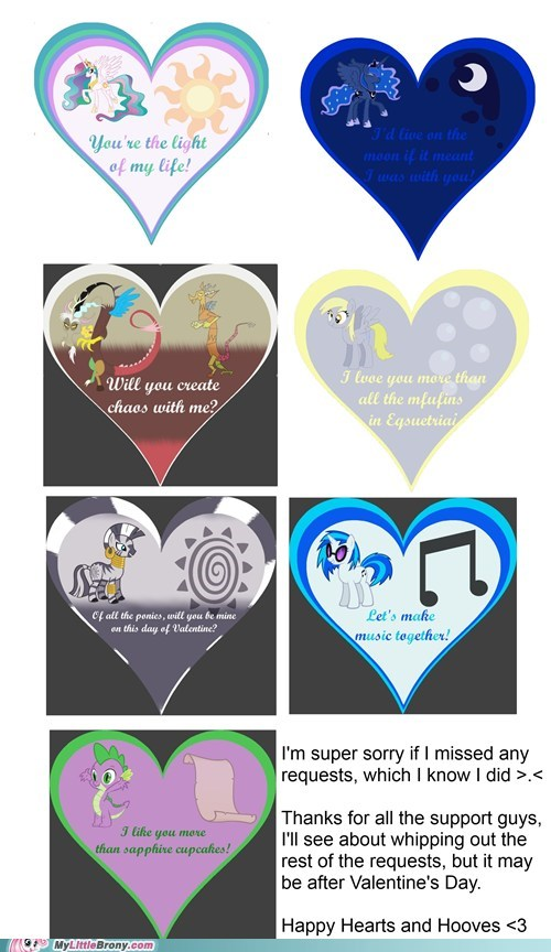 art background ponies cards hearts and hooves day Valentines day - 5831301632