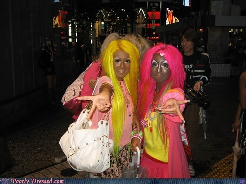 Aliens,Ganguro,Japan,japanese