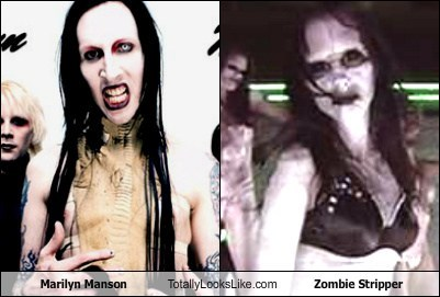funny,marilyn manson,Music,stripper,TLL,zombie