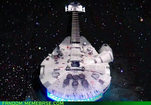 guitar It Came From the Interwebz millennium falcon scifi star wars - 5831941376