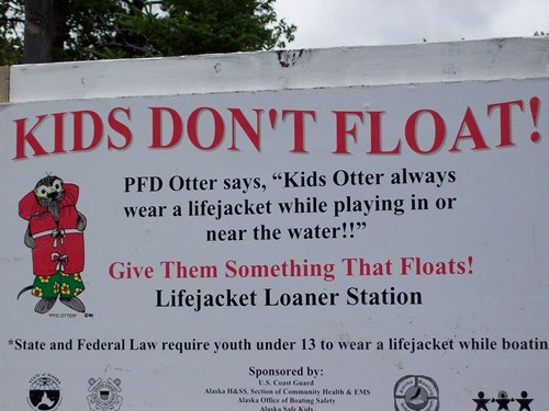 kids-dont-float,lifejacket,silly otter,swimming