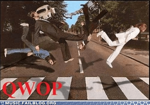 abbey road,beatles,QWOP