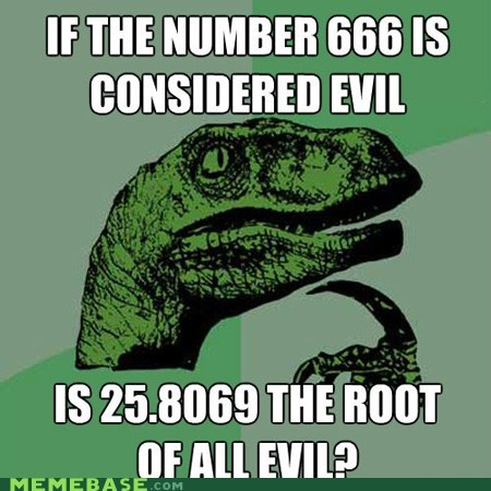 666 devil evil math philosoraptor root Square - 5832663040