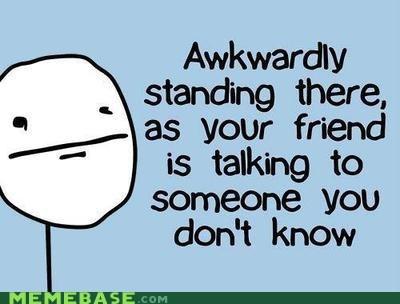 Awkward friend stranger talking Text Stuffs - 5832670464