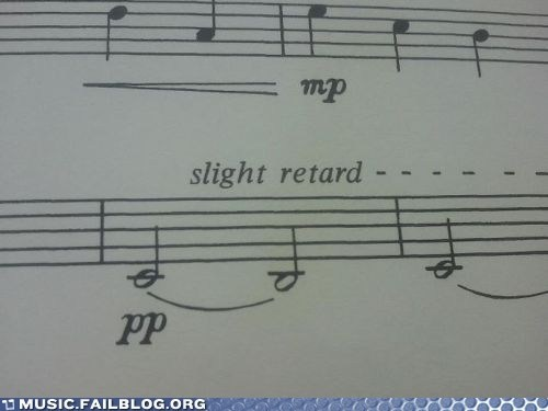 notes,retard,ritardando,score,sheet music