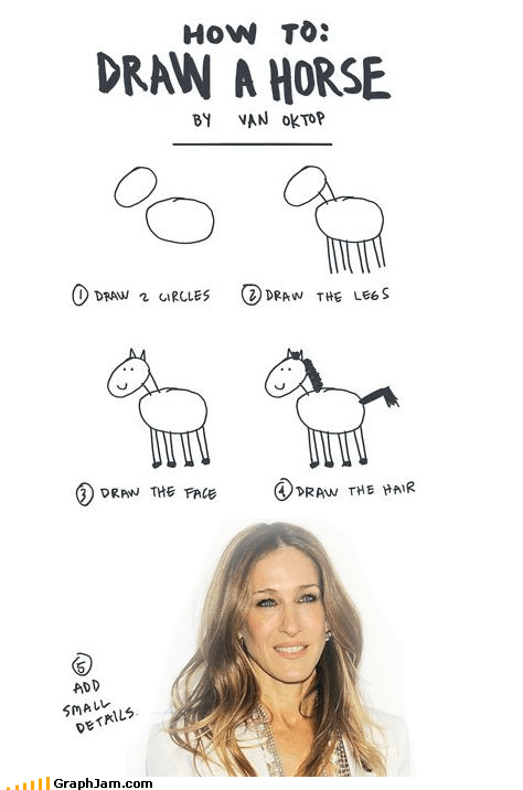 best of week,drawing,horse face,sarah jessica parker