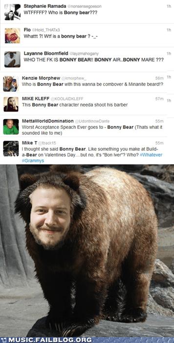 Bon Iver bonny bear folk Grammys indie twitter - 5833012736