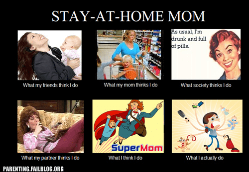 Hall of Fame not the same paraenting fails perception-vs-reality stay at home mom what you think