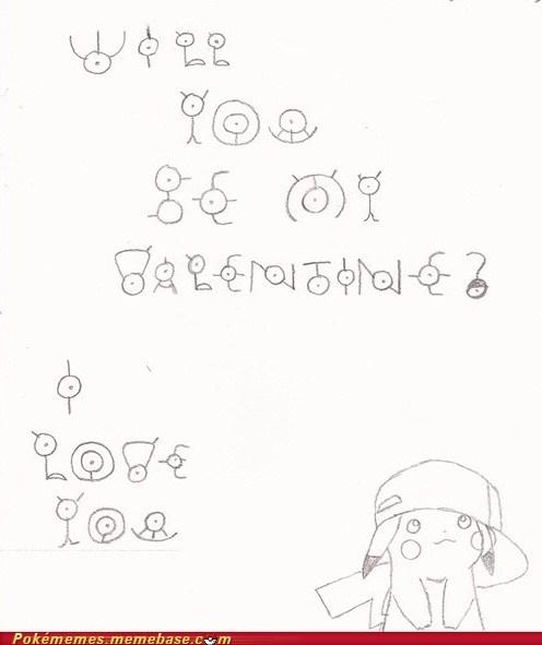 art be mine pikachu unown Valentines day - 5833138176