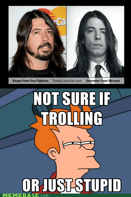 bands,best of you,Dave Grohl,foo fighters,fry,nirvana,that guy from nirvana,the dude from foo fighters