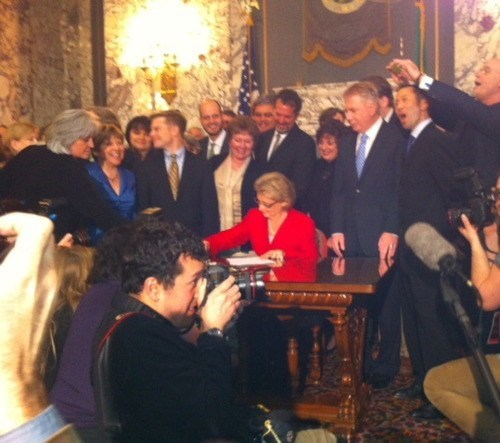 Christine Gregoire equality for all LGBT rights same-sex marriage washington - 5833179136