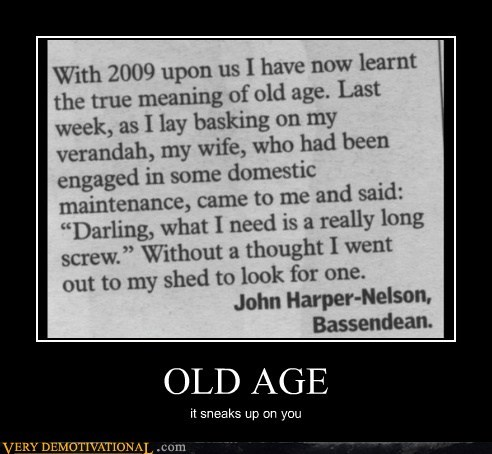 hilarious,long screw,news,old age