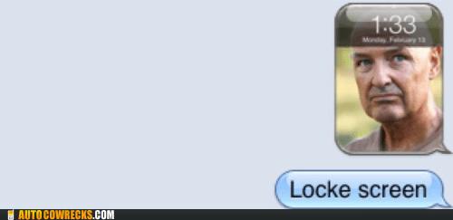 lock screen lost television TV - 5833674240