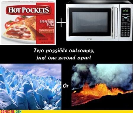 hot pockets,ice cold,microwave,popcorn button,temperature,the internets,too hot