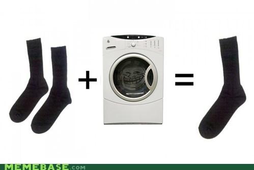 dryer socks troll troll face