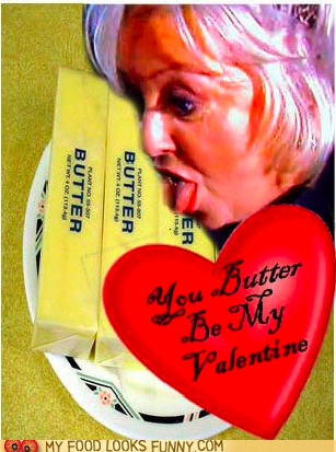 butter,heart,love,paula deen,Valentines day