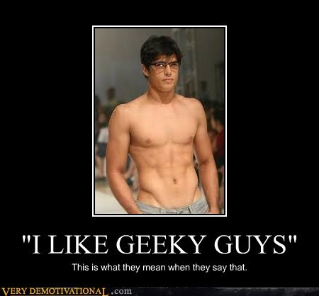 geeky guys glasses Pure Awesome sexy abs