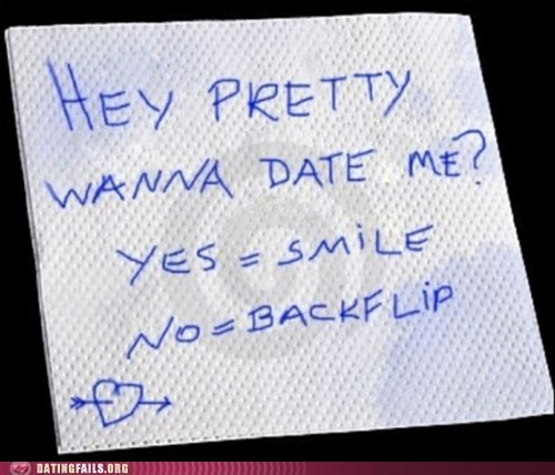 backflip,date,note,pick one,smile