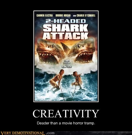 attack,creativity,dead,hilarious,shark