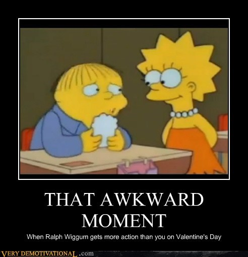 Awkward Moment hilarious Lisa Simpson Ralph Wiggum simpsons - 5834402048