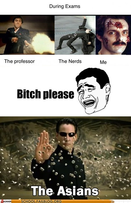 asians,dodging bullets,nerds,study,studying,the matrix