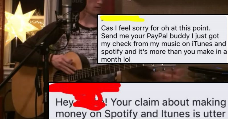 cringe musician gets called out